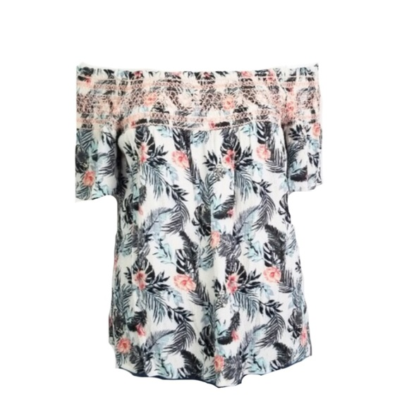 Maurices Tops - Maurice's Tropical Cold Shoulder Summer Top 🌺